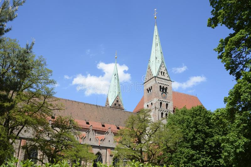 Augsburg Cathedral. The cathedral of Augsburg (Bavaria, Germany royalty free stock images