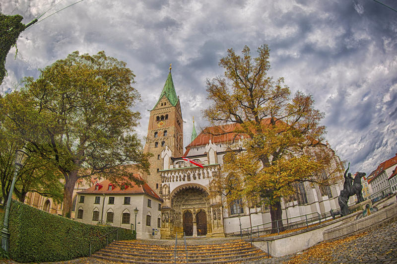 Augsburg Dome. Augsburg is a city in Swabia, Bavaria, Germany. It was a Free Imperial City for over 500 years, and is notable for the Augsburg Confession. It is royalty free stock image