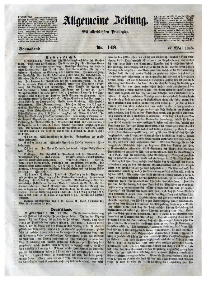 Augsburg general Newspapers royalty free stock photos
