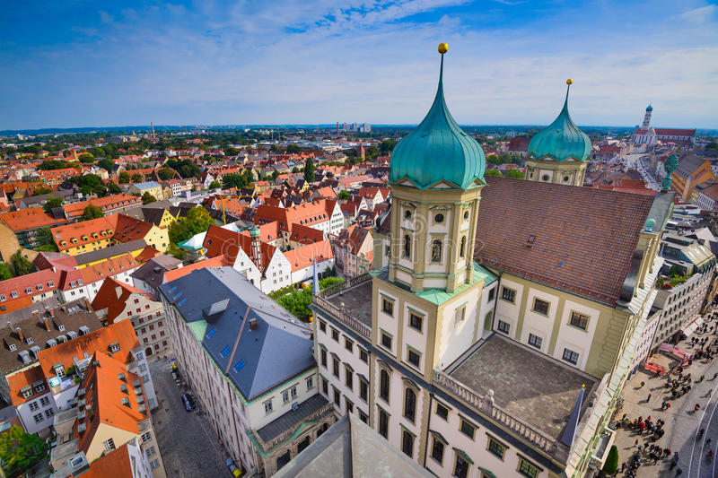 Augsburg, Germany. Old town cityscape royalty free stock images