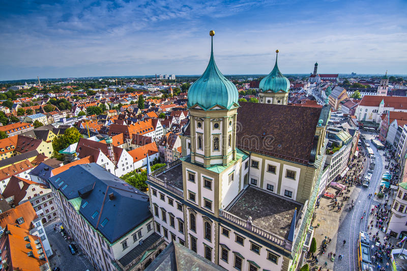 Augsburg. Germany old townscape royalty free stock image