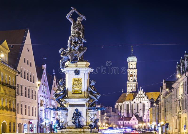 Augsburg Germany. Augsburg, Germany townscape on Maximilianstrasse royalty free stock photo