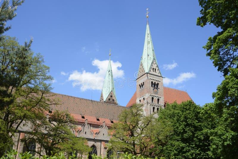 Augsburg-Kathedrale lizenzfreie stockbilder