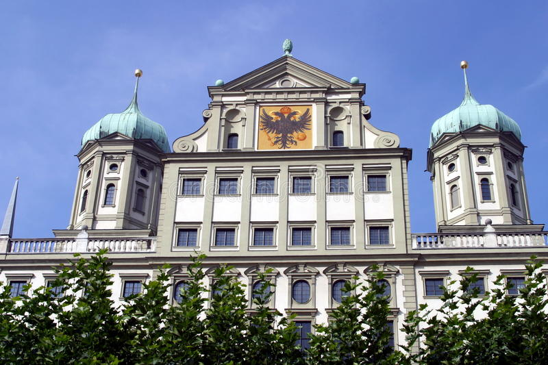 Augsburg old city hall. In Bavaria, Germany royalty free stock image