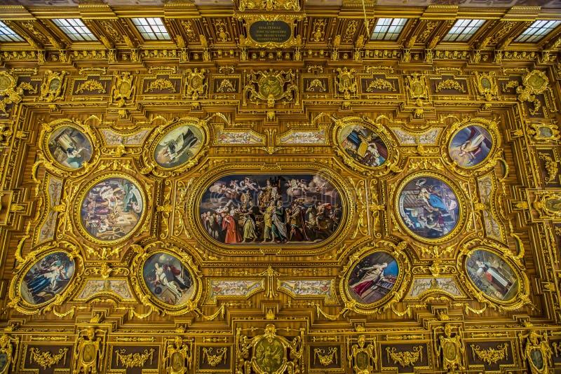 Augsburg Pasillo de oro fotografía de archivo