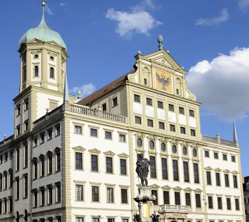 Augsburg-Rathaus stockfotografie