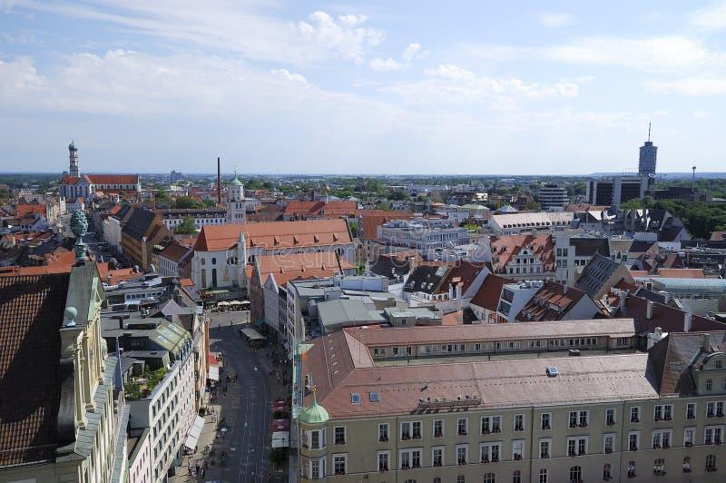 Augsburg-Stadt stockbild