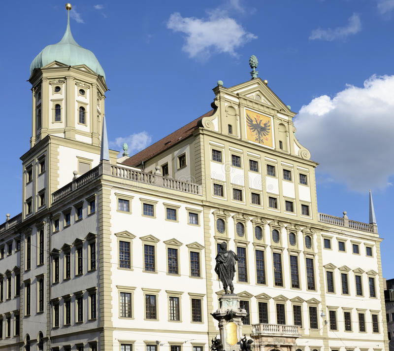 Augsburg town hall. The town hall of Augsburg (Bavaria, Germany stock photography