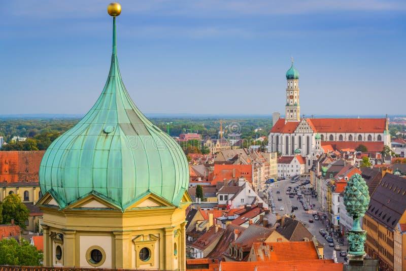 Augsburski, Niemcy miasteczka linia horyzontu zdjęcie royalty free