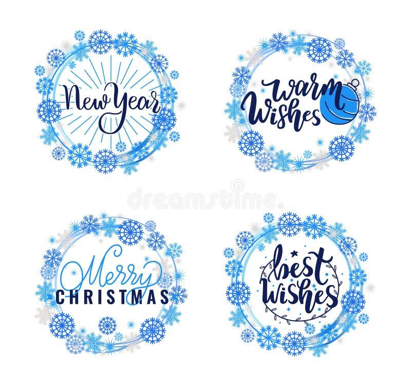 Auguri, vacanze invernali calde allegre di Natale royalty illustrazione gratis