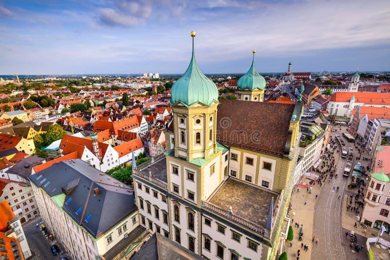 Augusburg, horizonte de Alemania imagen de archivo