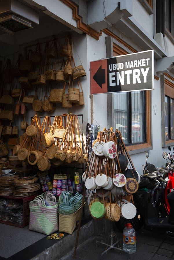 August 10, 2019 - Bali, Indonesia: Entrance sign to Ubud Market, Bali, Indonesia royalty free stock images
