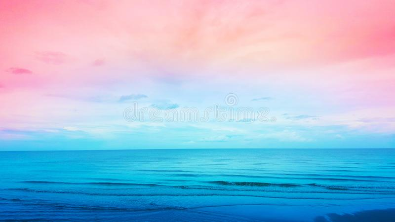 AUGUST 3, 2018: Beautiful sea view background at cha-am, Thailand. Travel royalty free stock images