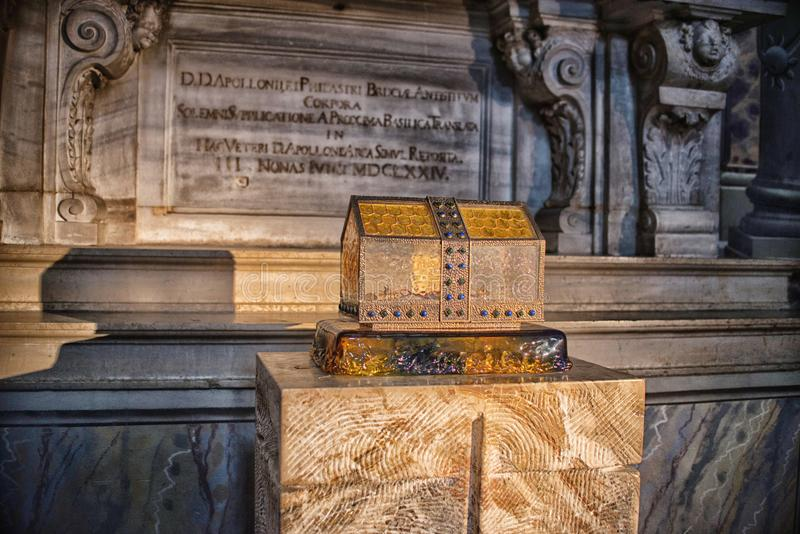 August 06 2017, Brescia, Italy, inside the Old cathedral Brescia Church, stock photos