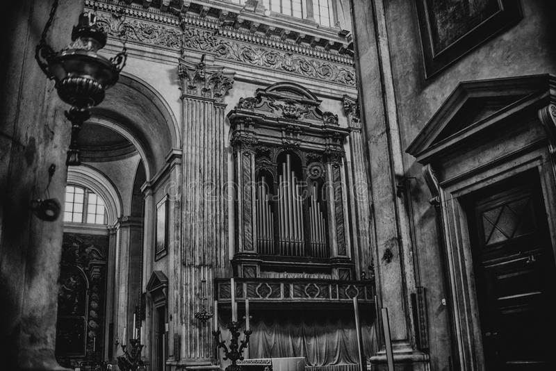 August 06 2017, Brescia, Italy, inside the Old cathedral Brescia Church, stock image