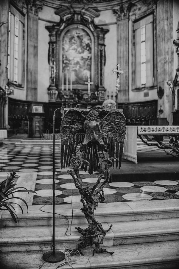August 06 2017, Brescia, Italy, inside the Old cathedral Brescia Church, royalty free stock images