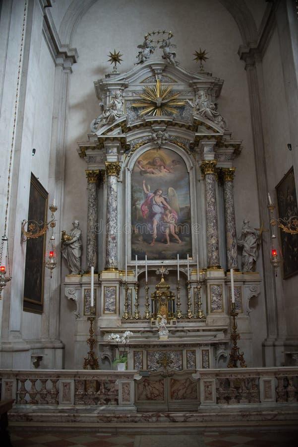 August 06 2017, Brescia, Italy, Old cathedral Brescia Church,. August 06 2017, Brescia, Italy, inside the Old cathedral Brescia Church royalty free stock photo