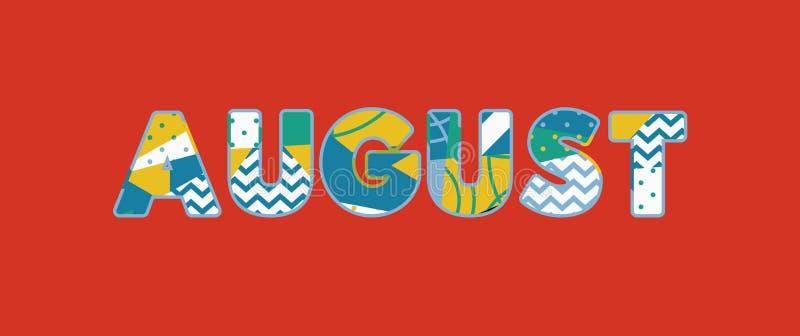 August Concept Word Art Illustration royalty illustrazione gratis