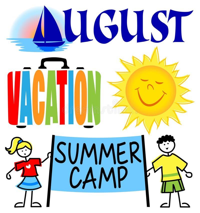 August Events Clip Art Set ilustração do vetor