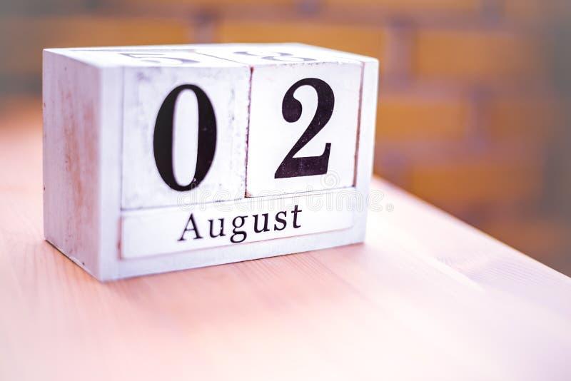 2. August-August 2 - Geburtstag - internationaler Tag lizenzfreie stockbilder