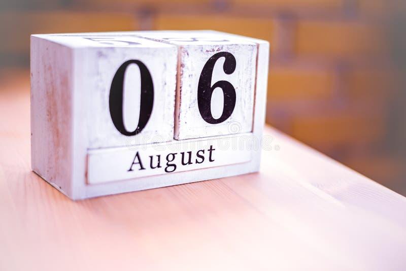 6. August-August 6 - Geburtstag - internationaler Tag - Nationaltag lizenzfreie stockfotografie