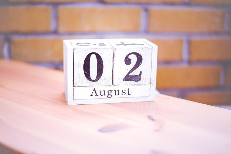 2. August-August 2 - Geburtstag - internationaler Tag - Nationaltag stockfoto