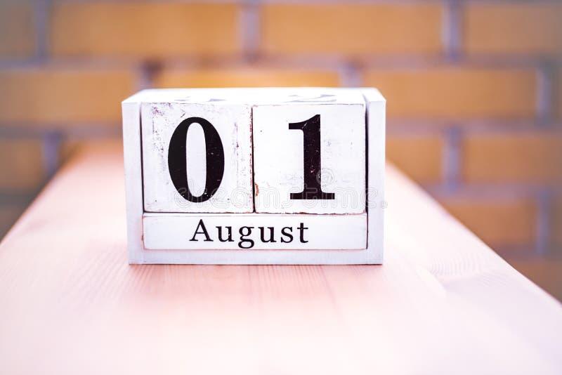 1. August-August 1 - Geburtstag - internationaler Tag - Nationaltag lizenzfreies stockfoto