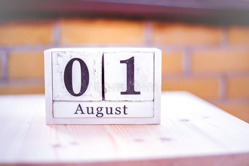 1. August-August 1 - Geburtstag - internationaler Tag - Nationaltag lizenzfreies stockbild