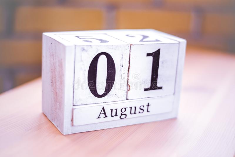 1. August-August 1 - Geburtstag - internationaler Tag - Nationaltag stockfotografie