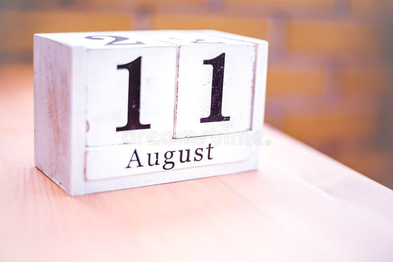 11. August-August 11 - Geburtstag - internationaler Tag - Nationaltag lizenzfreies stockbild