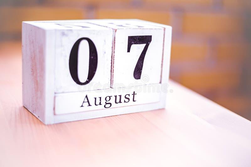 7. August-August 7 - Geburtstag - internationaler Tag - Nationaltag lizenzfreie stockfotos