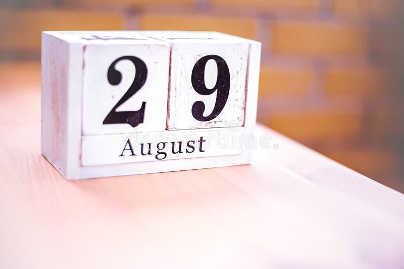 29. August-August 29 - Geburtstag - internationaler Tag - Nationaltag lizenzfreie stockfotos