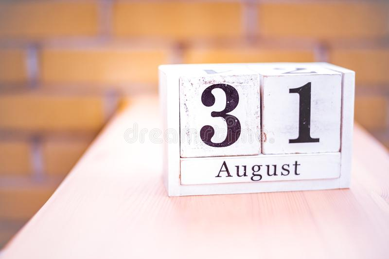 31. August-August 31 - Geburtstag - internationaler Tag - Nationaltag stockbild