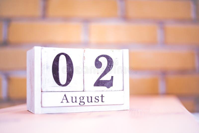 2. August-August 2 - Geburtstag - internationaler Tag - Nationaltag lizenzfreies stockbild