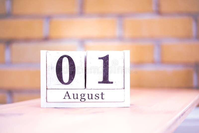 1. August-August 1 - Geburtstag - internationaler Tag - Nationaltag lizenzfreie stockfotos