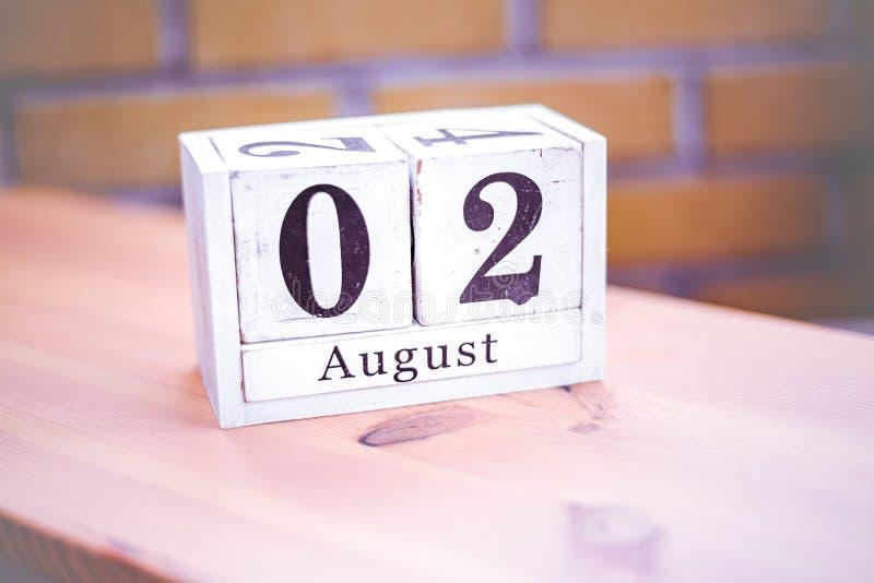 2. August-August 2 - Geburtstag - internationaler Tag - Nationaltag lizenzfreie stockfotografie