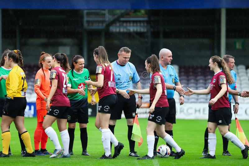 Womens National League game: Galway WFC vs Peamount United royalty free stock images