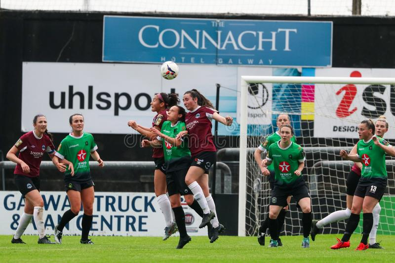 Womens National League game: Galway WFC vs Peamount United stock image