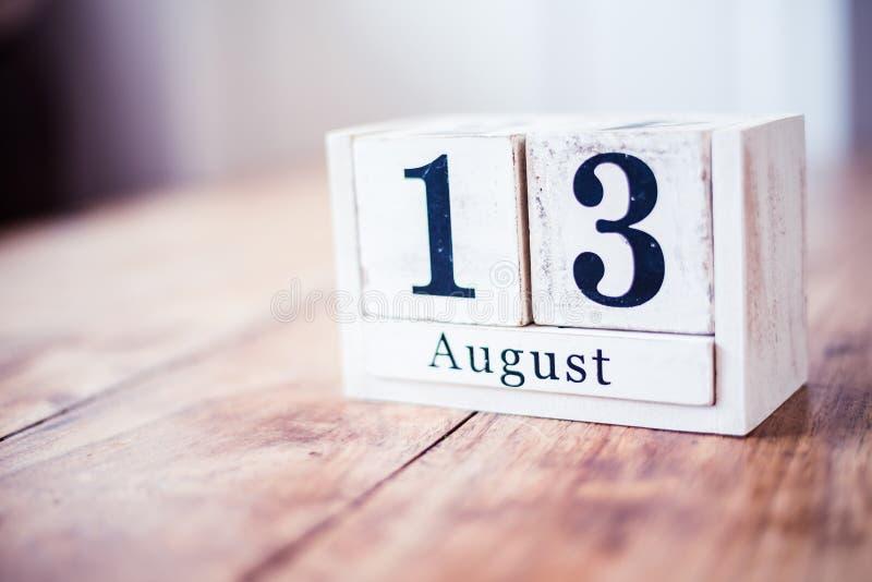 August 13., am 13. August - internationaler Organspende-Tag stockfoto