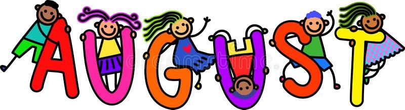 August Kids illustrazione di stock