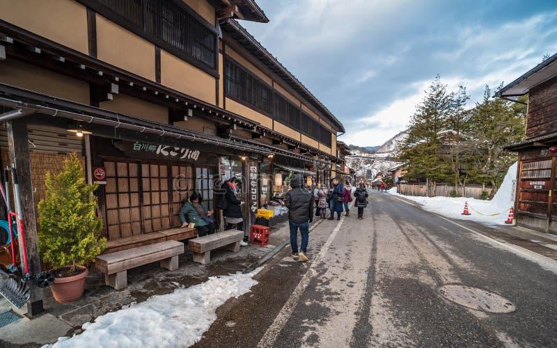 12. August 2018 Kultur Naganos Japan und Architekturhaus in Nagano Japan stockbild
