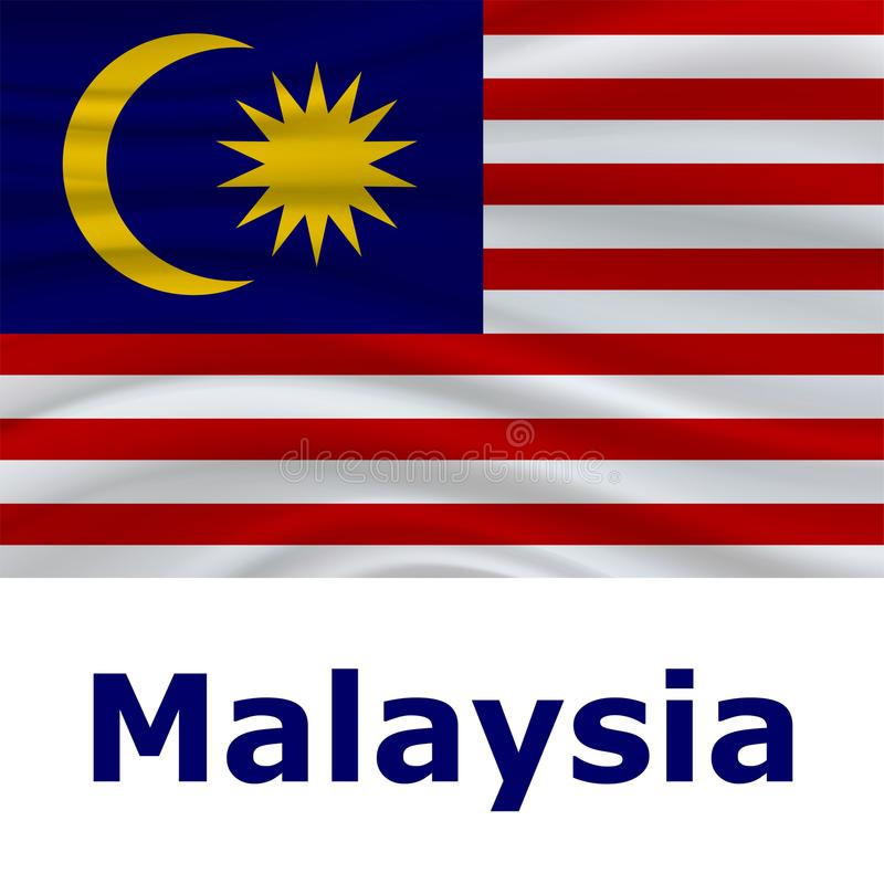 31 August, Malaysia Independence Day background royalty free illustration