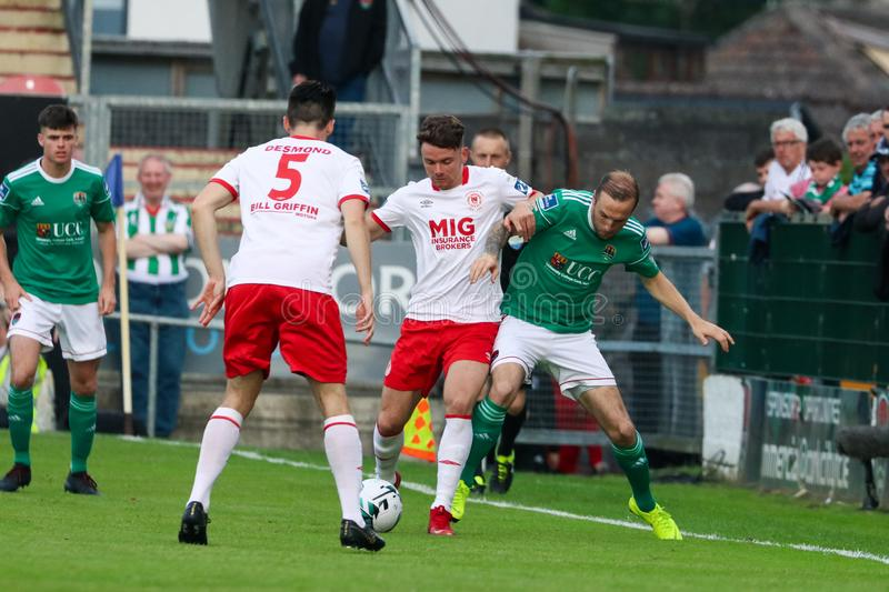 Karl Sheppard at League of Ireland Premier Division match between Cork City FC vs St Patricks Athletic FC stock photos
