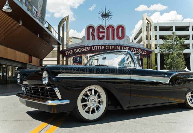 August Nights quente, Reno do centro, Nevada fotos de stock royalty free
