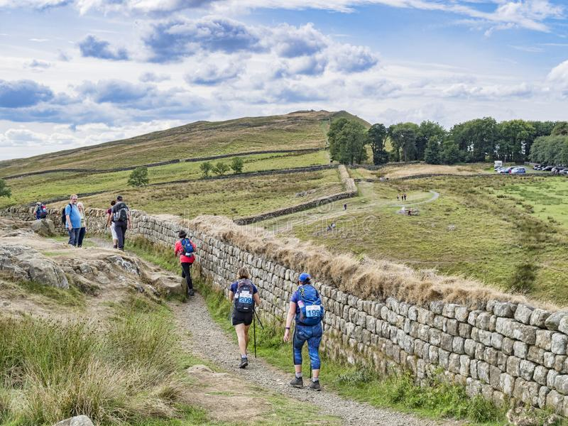 Hadrian`s Wall Path Northumberland UK royalty free stock images
