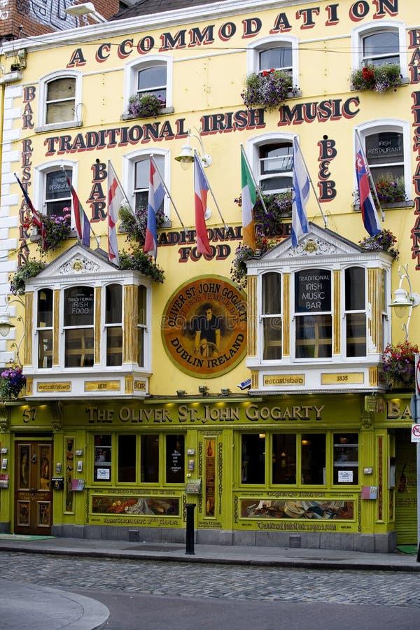 Oliver St John Gogarty Pub royalty free stock photos