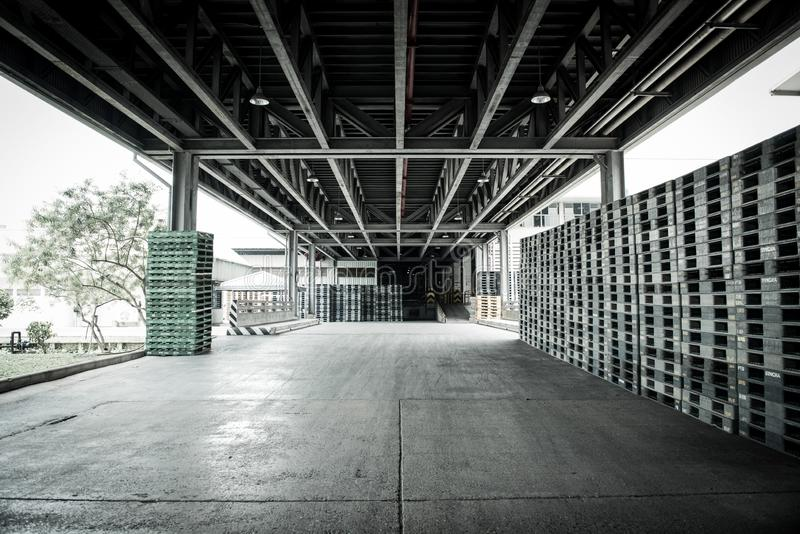 1 August 2019 Pathumthani Thailand Beer storage warehouse.  stock image