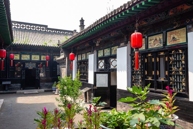 August 2013 - Pingyao, Shanxi-Provinz, China - einer der H?fe von Ri Sheng Chang, die ?lteste Bank in der Welt in Pingyao stockbild