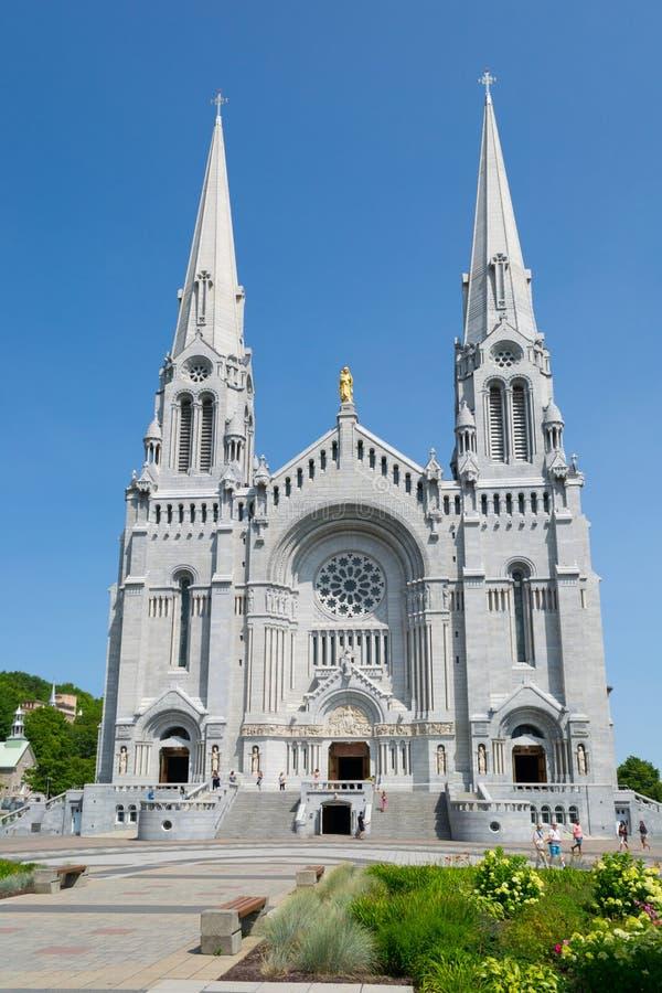 AUGUST 18, 2018 -QUEBEC CITY, CANADA- Basilica of Sainte-Anne-de-Beaupre near Quebec City. stock photo
