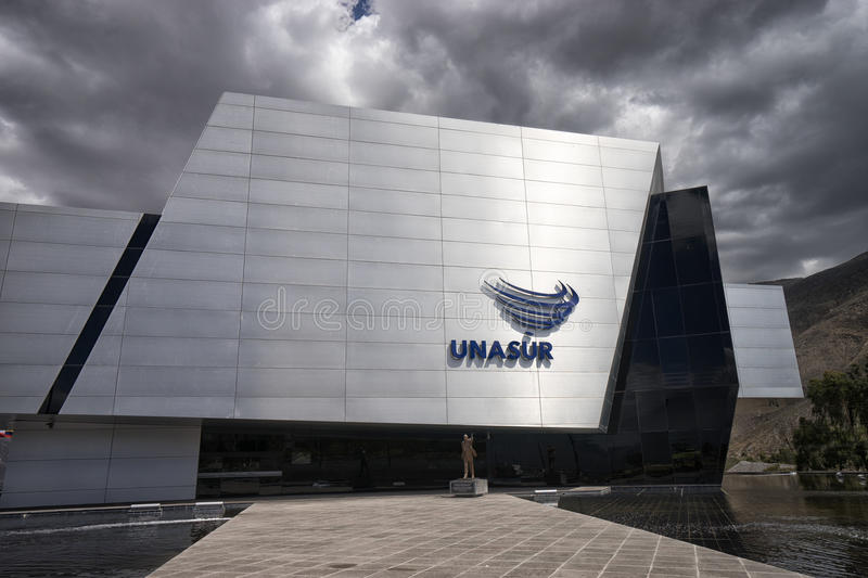 The modern UNASUR building in Quito Ecuador royalty free stock images